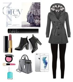 """""""Grey fall outfit!"""" by alexisrose2112 ❤ liked on Polyvore featuring 7 For All Mankind, WearAll, NARS Cosmetics, Chanel, Bobbi Brown Cosmetics, Essie, SWEET MANGO and Michael Kors"""