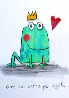 Eres mi príncipe azul | Láminas originales | Anna Llenas