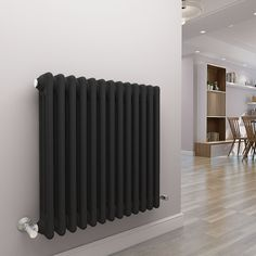 Bern 600 x 605mm Anthracite Triple Horizontal Column Radiator Add A Bathroom, Central Heating Radiators, Column Radiators, Towel Radiator, White Heat, Heating Element, Bern, Heating Systems, Bathroom Inspiration