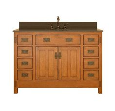 Buy the Sagehill Designs Rustic Oak Direct. Shop for the Sagehill Designs Rustic Oak American Craftsman Oak Wood Vanity Cabinet Only and save. Rustic Bathroom Vanities, Rustic Bathrooms, Bathroom Furniture, Bathroom Ideas, Bathroom Designs, Bathroom Cabinets, Vanity Bathroom, Vintage Bathrooms, Bath Vanities