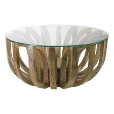 Large Natural Lotus Coffee Table