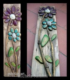 ❤~Piedras Pintadas~❤ ♥ ⊰❁⊱ Stone flowers by Michela Bufalini Stone Crafts, Rock Crafts, Fun Crafts, Arts And Crafts, Rock Flowers, Art Flowers, Paper Flowers, Pebble Art, Stone Art