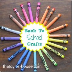 20 Back To School Craft Activities from The Taylor House