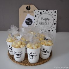 traktatie popcorn hema zwart-wit