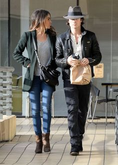 Nikki Reed with Ian Somerhalder in Jeans Out in Studio City The Vampire Diaries, Damon Salvatore, Nina Dobrev, Fall Outfits, Casual Outfits, Cute Outfits, Star Fashion, Daily Fashion, Ian Somerhalder Nikki Reed