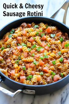 Quick & Cheesey Sausage Rotini- hearty & filling, ready in 20 minutes