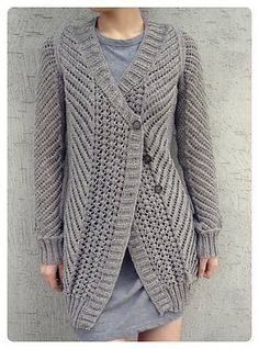 Oblique Cardigan free knitting pattern and more free cardigan sweater knitting patterns