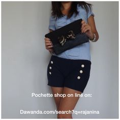 Shop online http://it.dawanda.com/search?q=Rajanina #pochette #bag #bags #outfit #look #fashion #denim #leopard