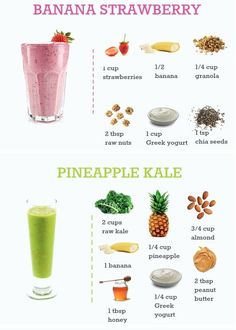 pineapple kale strawberry banana smoothie