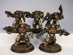 PAINTED 40K: Pre Heresy Death Guard Cataphractii Terminators, Painted by Big Steve