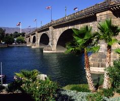 London Bridge: Lake Havasu, AZ This would be an ordinary bridge if it were still spanning the River Thames in London, England. What makes this century-old construction preposterous is the fact that in 1968 it was bought by chain-saw magnate Robert McCulloch, disassembled stone by stone, then transported to remote Lake Havasu, where it is now a rather incongruous local landmark (along with other oddities like one-third-scale functioning lighthouses).