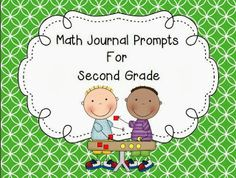 FREE math journal prompts--great for the beginning of the year--second grade math freebie--total of 16 pages