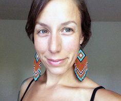 SALE Desert Turquoise handmade bead earrings by handmadewarrior