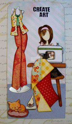 2017 March-Prima Doll-Sewing-Create Art by CMandMJewelry.deviantart.com on @DeviantArt