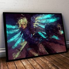 Overwatch Poster. Overwatch Mercy Painting Print. Mounted Canvas available on request details in listing