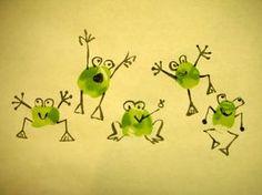 Résultat d'images pour frog fingerprint art Art For Kids, Crafts For Kids, Arts And Crafts, Paper Crafts, Fingerprint Crafts, Thumbprint Crafts, Thumbprint Tree, Frog Theme, Frog Crafts