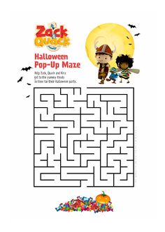 Paint, draw, create and learn, print out preschool activities, like this Zack & Quack Halloween Maze. Halloween Maze, Preschool Activities, Birthday, Painting, Painting Art, Paint, Birthdays, Painting Illustrations, Paintings