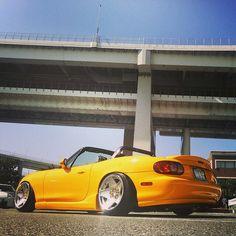 Yamata1 from Japan on #3SDM wheels     www.TopMiata.com     #TopMiata #mazda #miata #mx5 #eunos #roadster #japan