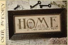 Our Story is the title of this cross stitch pattern from With Thy Needle and Thread that is stitched with Weeks Dye Works