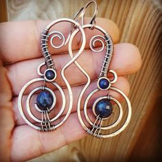 Hey, I found this really awesome Etsy listing at https://www.etsy.com/listing/469377226/boho-sodalite-earrings-wire-wrapped