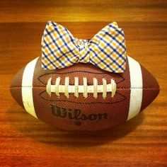 Orange & Blue Gingham Bow Tie