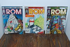 3 ROM Comics  Free Shipping by HobbyHaven on Etsy, $6.00