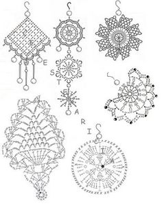 Crochet diagram to make earrings, Spanish site; oh great, it's in Spanish, which I don't speak or read.
