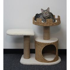 PetPals 31 x 26 x 27 Cat Furniture with Nest Crown & Platform & Condo - Small - PP1134