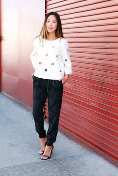Blogger Aimee Song Styles Tibi's Pretty Pre-Fall Collection via @WhoWhatWear