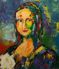 Saatchi Art Artist Tomoya N; Mona Lisa Parody, Mona Lisa Smile, Many Faces, Classic Beauty, Saatchi Art, Modern, Walls, Artist, Paper