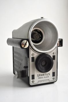 What an odd looking thing! 1940s Spartus Press Flash Camera