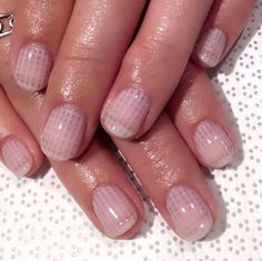 The subtle side of nail art: sheer, pink crisscrossed lines.@vanityprojects - Provided by Harper's Bazaar
