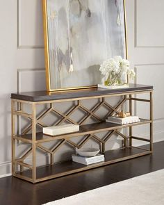 Do you need some living room design inspiration? Check out these awesome examples of Luxury Furniture Design for your contemporary living room specifically Modern Console Tables Do you need some living room design Entryway Console Table, Modern Console Tables, Entryway Furniture, Rustic Furniture, Luxury Furniture, Entryway Decor, Living Room Furniture, Furniture Design, Modern Furniture
