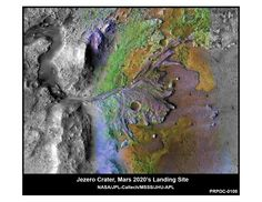 This image is of Jezero Crater on Mars, the landing site for NASA's Mars 2020 mission. It was taken by instruments on NASA's Mars Reconnaissance Orbiter (MRO) Nasa Photos, Nasa Images, Nasa Pictures, Carl Sagan, Mars Landing, Site Image, Curiosity Rover, Nasa Missions, Mission To Mars