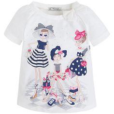 Camiseta manga corta niñas Azules