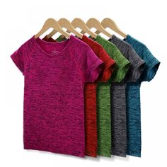Cheap women yoga shirts, Buy Quality yoga shirt directly from China shirt th Suppliers: MAIJION 5 Colors Women Yoga Shirt for Fitness Running Sports T Shirt ,Gym Quick Dry Sweat Breathable Exercises Short Sleeve Tops Jogging, Selfies, Moda Plus Size, Yoga Tops, Gym Tops, Women's Tops, Gym Shirts, Sport T Shirt, Sport Wear