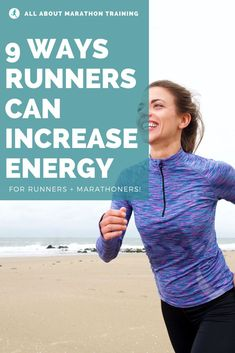 9 Ways to Increase Energy as a Runner Jogging For Beginners, Running For Beginners, How To Start Running, How To Run Faster, Interval Running, Running Race, Running Workouts, Running Tips, Fitness Exercises