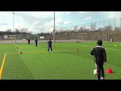 Fussballtraining: Ball ablegen mit Torschuss - Torschuss - Technik - YouTube