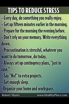 Get rid of stress!