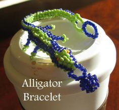 alligator beaded bracelet