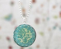 pretty Teal Necklace from bel kai designs