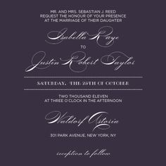 Wedding Invitation - Lux Reverse