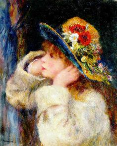 Renoir Painting - Woman in Hat