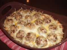 Low Carb Meatball Casserole -- site has lots of low carb recipes and ideas