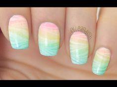 magico effetto arcobaleno watermarble nail art! #magicoeffettoarcobalenowatermarblenailart