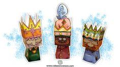 PARA IMPRIMIR: Reyes Magos para recortar y armar