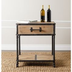ABBYSON LIVING Northwood Industrial End Table