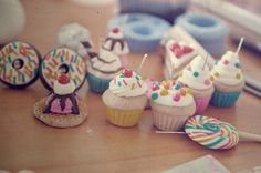 figuras de arcilla polimerica cupcakes - Buscar con Google