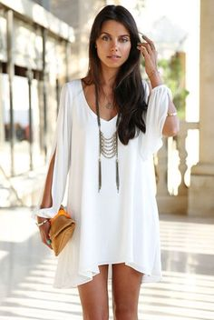 This beach leisure chiffon dress is bound to bring you extraordinary cool and fresh feeling this summer. It looks extremely fashionable with a classic loose fit kimono design, lightsome material outst