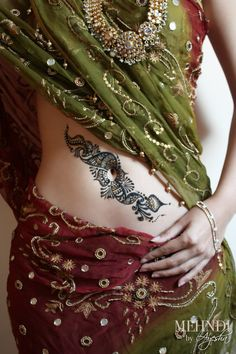 henna on the belly!